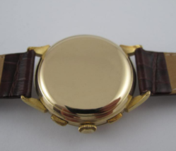 Excelsior part 18 k solid gold mans chronograph vintage watch working pe... - $2,000.00