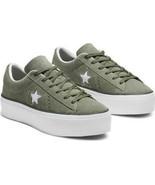 Converse Womens One Star Platform Ox Suede 564383C Green/White/Black Mul... - $49.99