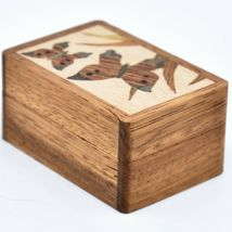 Northwoods Wooden Parquetry Country Garden Butterflies Mini Trinket Box image 4