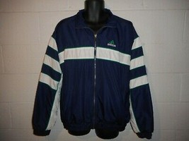 Vintage 90s Adidas 3 Stripe Windbreaker Jacket Large - $59.99