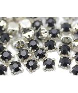 6mm SS30 Jet Black Sew on Crystal Diamante Rhinestone Rose Montee Beads ... - $11.87