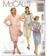 McCall's 4041 Misses' Dress and Flower - $1.75