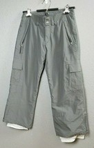 Kemper Gray Insulated Snowboard Ski Snow Pants Youth Size 10 Kid Boys Wa... - $24.99