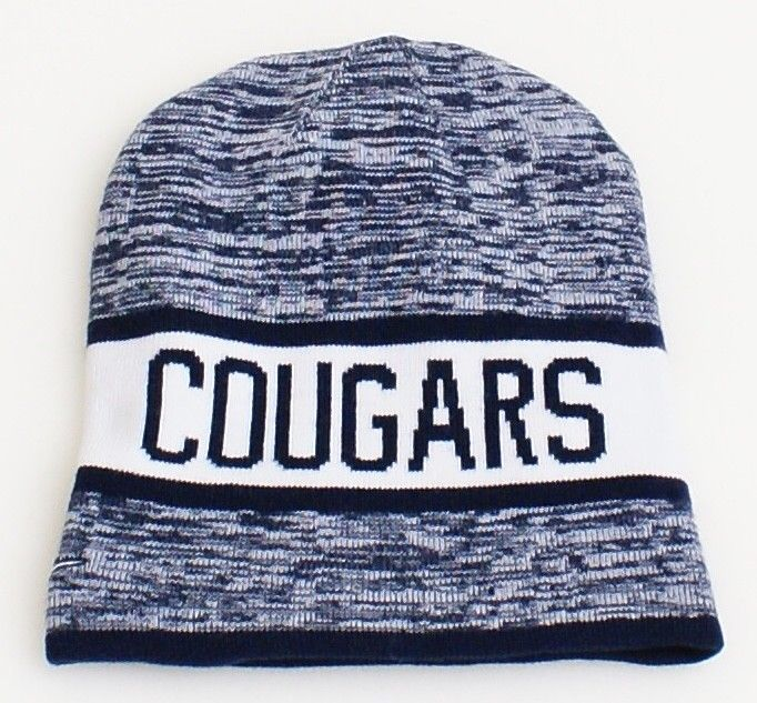 Nike Reversible BYU Cougars Dark Blue   White Knit Beanie Men s ... 7f9a1c5b447c