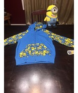 """Despicable Me Minion Hoodie Jacket Size 6 With Tags! Plus 10"""" Stewart Plush - $9.49"""