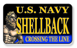 NAVY SHELLBACK CROSSING THE LINE MAGNET PACKAGE SET OF 4 - $27.07
