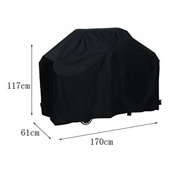 Grill Cove 170cm Waterproof BBQ Barbecue Cover Protective  with Storage Bag