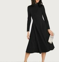 Women Stand Collar Long Sleeve A-Line Fit and Flare Long Dress Casual Re... - $57.59
