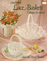 1984 Crochet Lace Pineapple Candy Doily Flower Baskets Weiss Mary Thomas... - $11.99