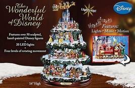 Disney 50 Character Tabletop Christmas Tree Carousel Musical Light Motio... - $395.72