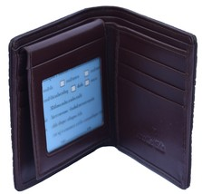 Classic Temptress Brown Cash And Card Slots Palpable Crocodile Leather Wallet - $176.39