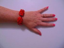 "Charter Club 6.5"" Red/Black Stretch Bracelet A343 - $204,57 MXN"
