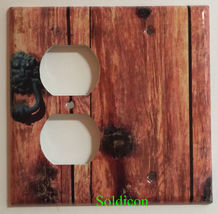 Rustic Barn Wood Door image Light Switch Outlet Wall Cover Plate Home Decor image 8