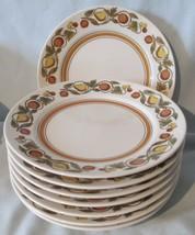 Franciscan Pickwick Tan Rim Bread or Dessert Plate set of 8 - $28.60