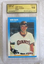 WILL CLARK RC 1987 FLEER ROOKIE CARD#269 GEM MINT10!-GIANTS 1B RC-HOFER - $19.79