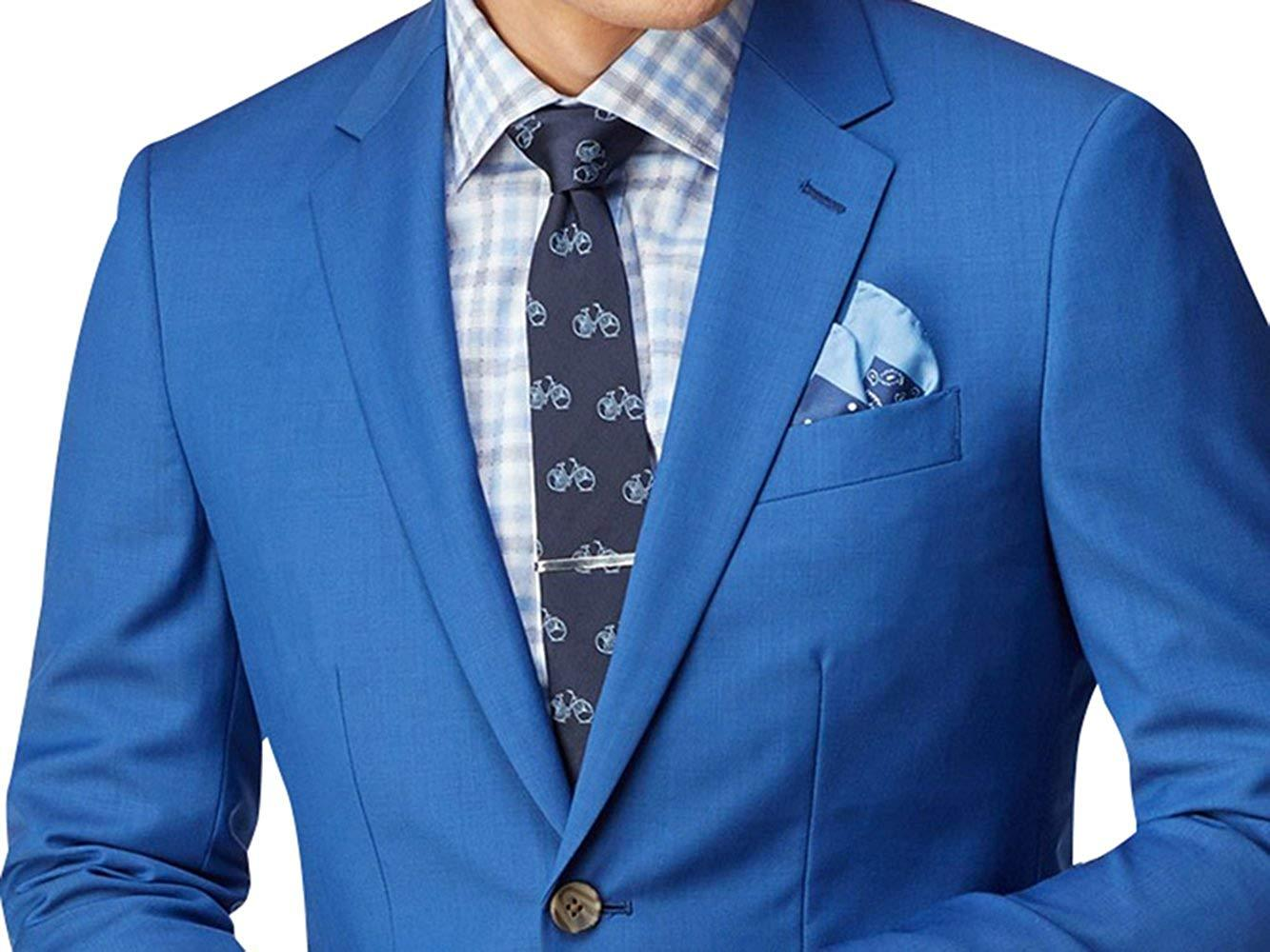Royal blue 2 piece slimfit sharkskin suit