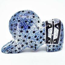 """Crafts Caravan Hand Carved Soapstone """"Denim Blue"""" Lion Figurine Made in Kenya image 3"""
