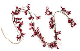 6 Foot Red Berry Garland - Perfect to Bring Holiday Cheer into Your Home This Se image 3