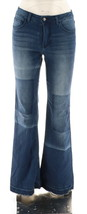 Women with Control My Wonder Patchwork Boot Cut Jeans Indigo 14 NEW A298543 - $35.62