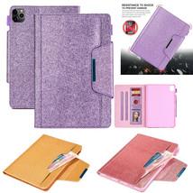 shine Leather wallet FLIP MAGNETIC BACK cover Case for Apple iPad models - $98.18