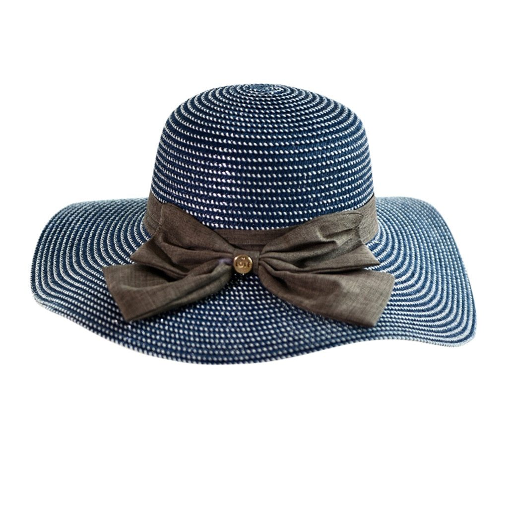 CHANSGEND Ladies Women Casual Solid Wide Brimmed Hats Floppy Foldable Straw Beac