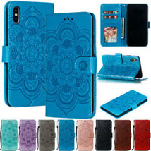 For iPhone 11 12Pro Max XS XR 7 8+ Case Magnetic Leather Flip Wallet Sta... - $61.81