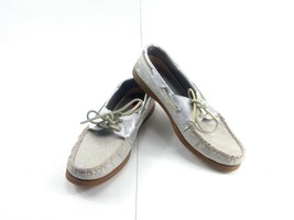Sperry Top-Sider Women's Silver Polka Dots Loafers STS94917 Boat Shoes Flats 10M - $29.52