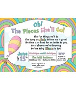 Oh the places you'll go baby shower invitation, Girl Baby Shower Invitation - $9.99+