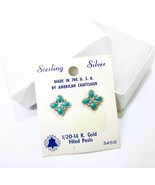 Sterling Turquoise Earrings, Stud Earrings, Bell Trading Post, Sunbell, ... - $22.00