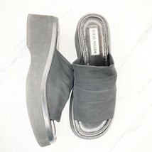 Steve Madden Vintage 90s Black Chunky Sandals Size 8 8.5 Classic Slinky ... - $58.03