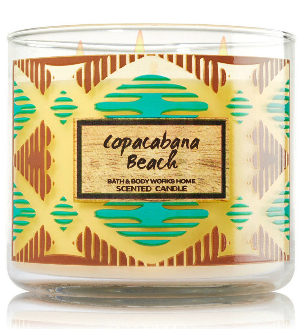 Bath & Body Works Copacabana Beach Three Wick 14.5 Ounces Scented Candle image 3