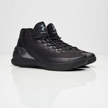Under Armour UA Curry 3 Black/Black 1269279-001 Size 9 - $149.99