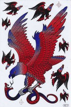 D418 Eagle Wing Bird Sticker Decal Racing Tuning Size 27x18 cm / 10x7 inch - $3.49