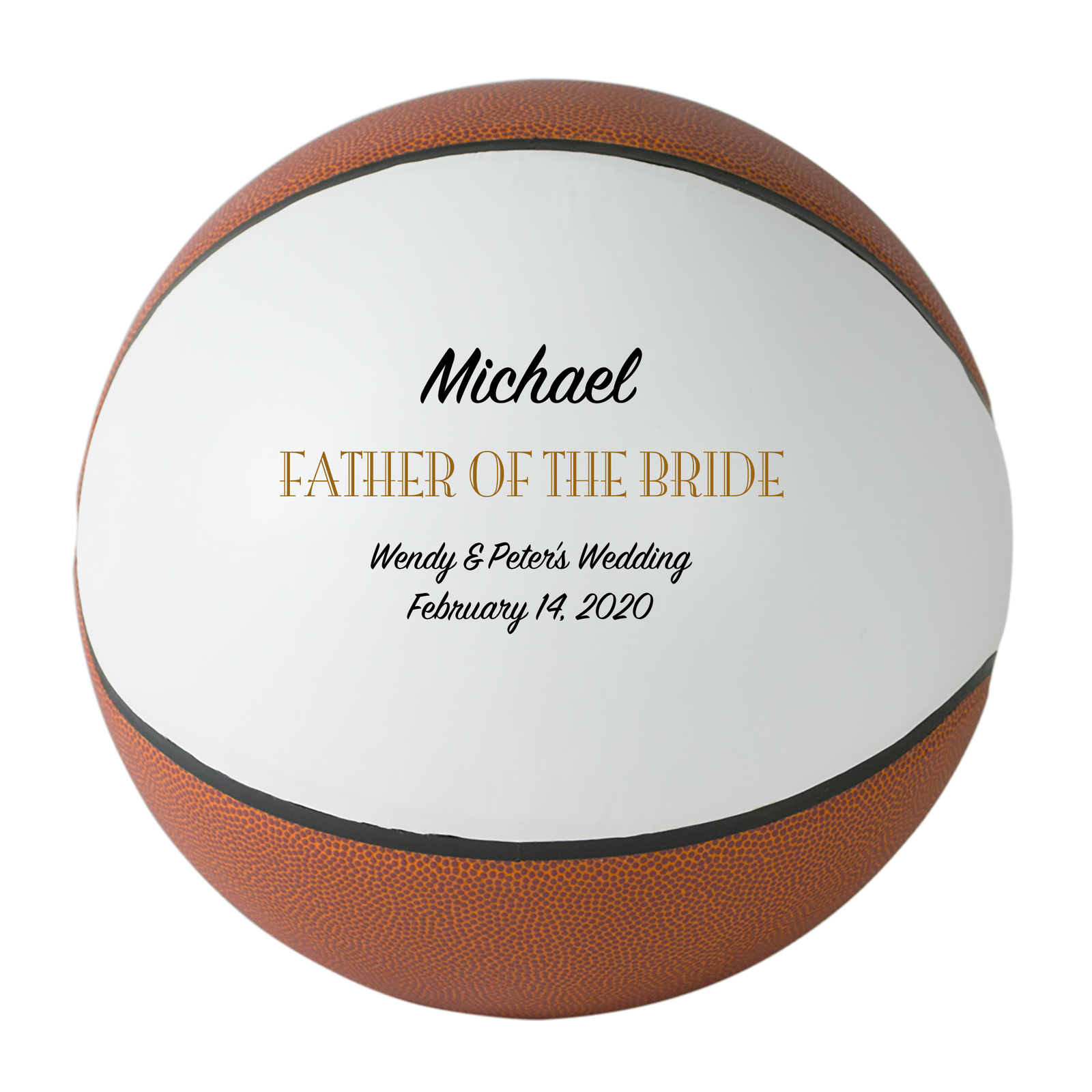 Primary image for Father of the Bride Regulation Basketball Gift - Personalized Wedding Favor