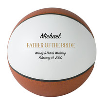 Father of the Bride Regulation Basketball Gift - Personalized Wedding Favor - $59.95