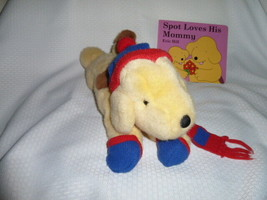 """EDEN - Spot the Dog plush with Spot book -  knit cap and scarf - 1993 - 15"""" - $149.48"""