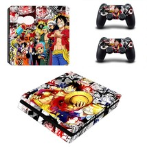 One Piece ps4 slim skin decal for console and controllers - $15.00