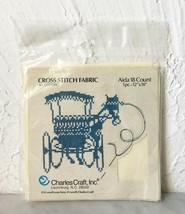 "Charles Craft 18 Count Ivory Aida Cross Stitch Fabric 100% Cotton - 12"" x 18"" - $4.70"