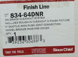 Sioux Chief Finish Line 834-64DNR On Grade Cleanout System 4 Inch image 10