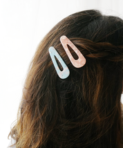 Pastel Marbled Hair Clip, Tortoise Shell Instagram Hair Clip, Blogger Ha... - $6.99