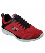 Skechers Red shoes Men Memory Foam Soft Mesh Train Sport Comfort Athleti... - $47.99