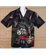 RJC Hawaiian Shirt Black Surfboards Large - $23.99