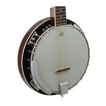 Banjo 6-string. Mahogany,  rosewood. Plastic: Remo Milky. Caraya - $285.00