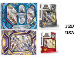 POKEMON 4 Collection Boxes: MEGA Gyarados + Mewtwo EX, Arceus & Victini ... - $72.50