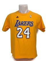 Los Angeles Lakers Adidas Kobe Bryant #24 T Shirt Yellow NBA Youth Size ... - $13.98