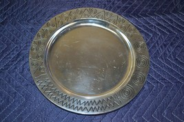 """Wilton Armetale 820034 Tray Reggae Med 12"""" Round Made in the USA - $23.01"""