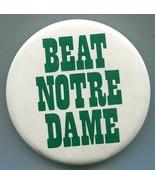 "Michigan State Spartans College Pinback Button - ""Beat Norte Dame"" - $7.12"