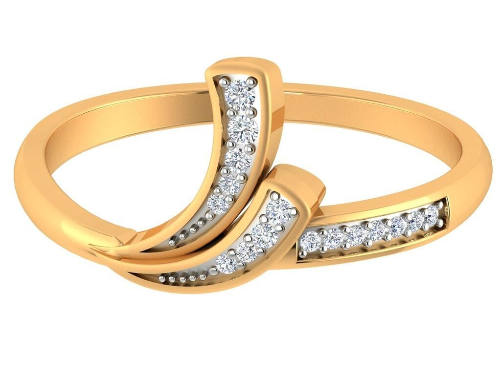 14kt yellow Solid Gold 0.08ct Certified Round Brilliant Cut Diamond Ring Fine