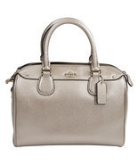 NWT Coach 56125 Platinum Crossgrain Leather Min... - £106.01 GBP