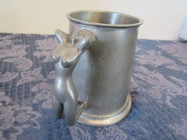 Sheffield English Pewter Stein Mug Nude Woman Handle Hand Crafted  - $24.79